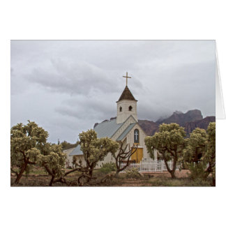 Elvis church at the Superstition mountains. Greeting Card