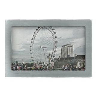 Emboss Photo Art of The London Eye Belt Buckle