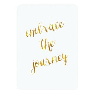 Embrace The Journey Quote Gold Faux Foil Courage 13 Cm X 18 Cm Invitation Card