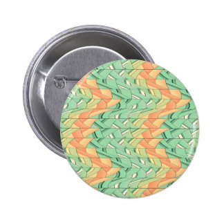 Emerald and salmon pattern 6 cm round badge