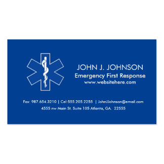 Emergency Medical Services Pack Of Standard Business Cards