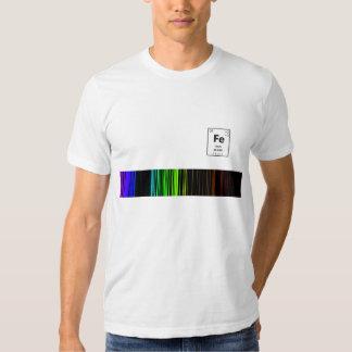 Emission spectrum Fe Tshirts