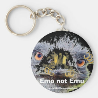 emo, Emo not Emu, Basic Round Button Key Ring