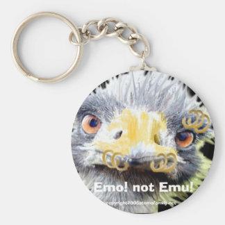 Emo! not Emu!, Basic Round Button Key Ring