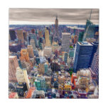 Empire State Building and Midtown Manhattan Small Square Tile