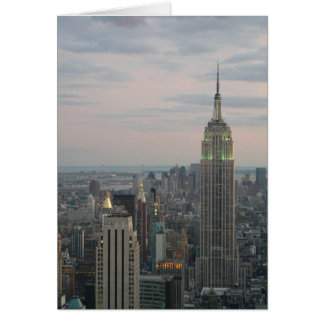 Empire State Twilight Greeting Card