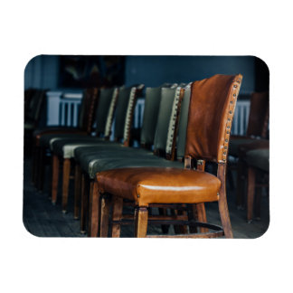 Empty chairs at the music hall rectangular photo magnet