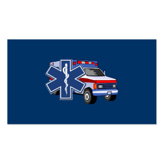 EMS Ambulance Pack Of Standard Business Cards