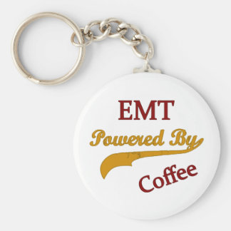 EMT Powered By Coffee Basic Round Button Key Ring