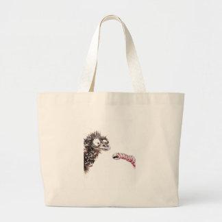 Emu and Worm Jumbo Tote Bag