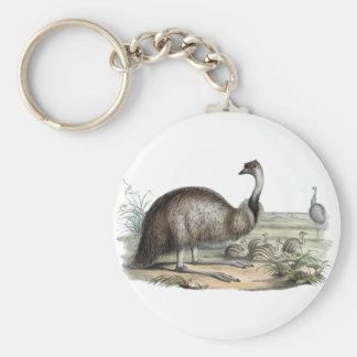Emu Basic Round Button Key Ring