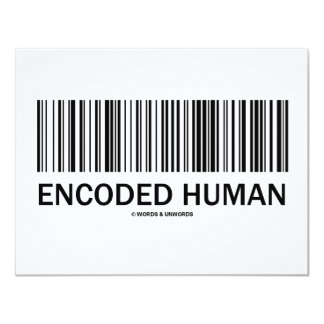 Encoded Human (Barcode Attitude) 11 Cm X 14 Cm Invitation Card