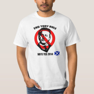 End Tory Rule Vote Yes for Scottish Independence Tshirt