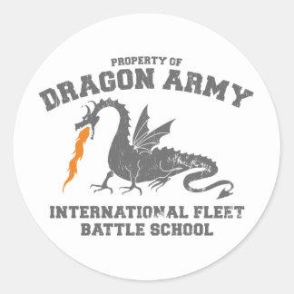 ender dragon army round sticker