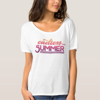 Endless Summer Vintage Typography Tee Shirt