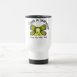 Endometriosis Cancer Butterfly I Am A Survivor Stainless Steel Travel Mug
