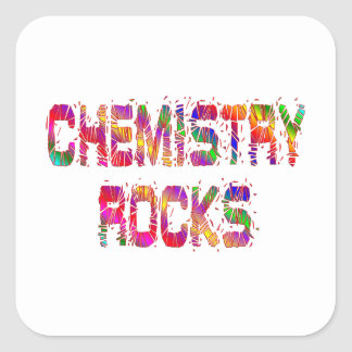 Energetic Chemistry Rocks Square Sticker