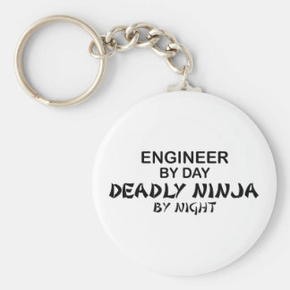 Engineer Deadly Ninja by Night Basic Round Button Key Ring