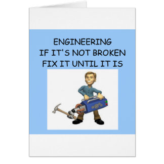ENGINEERING GREETING CARD