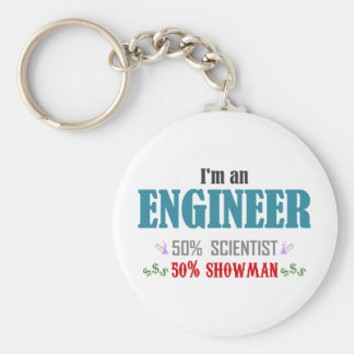 Engineer's composition basic round button key ring