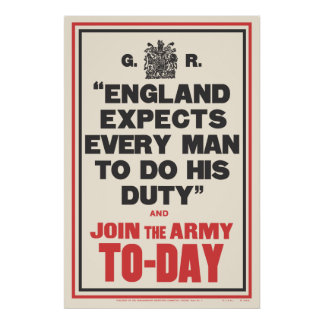 """""""ENGLAND EXPECTS..."""" POSTER"""