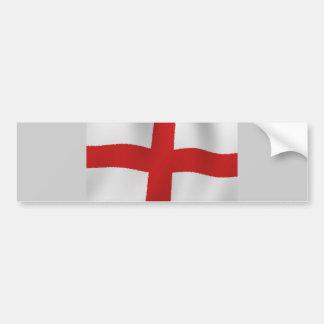 England Flag Bumper Sticker