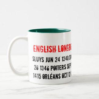 English Longbow Tour 1340 - 1453, Sluys Jun 24 ... Two-Tone Mug