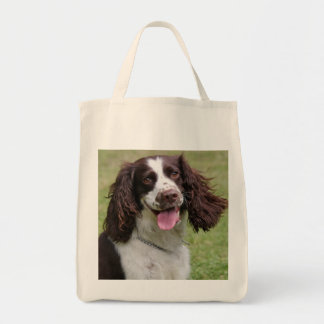 English Springer Spaniel dog beautiful photo, gift Grocery Tote Bag