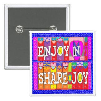ENJOY n Share JOY .. by Naveen Joshi 15 Cm Square Badge
