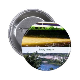 Enjoy Nature Walk 6 Cm Round Badge