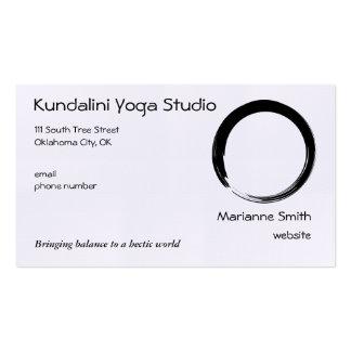 Enso Symbol with Zen Symbol v2 Pack Of Standard Business Cards