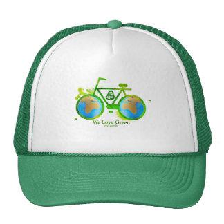 Environmental eco-friendly green bike cap man girl
