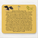 Ephesians 6:10-20 armour of GOD bible word faith Mouse Pad