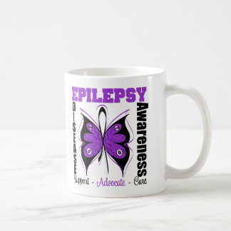 Epilepsy Awareness Butterfly Basic White Mug