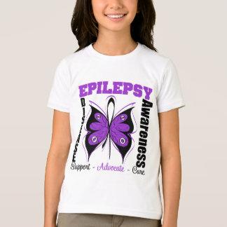 Epilepsy Awareness Butterfly Tee Shirt