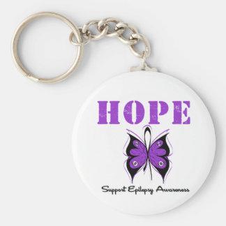 Epilepsy HOPE Basic Round Button Key Ring