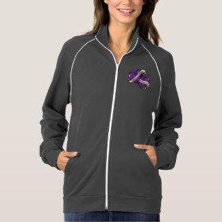 Epilepsy Hope Faith Dual Hearts Track Jacket