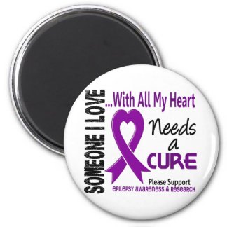 Epilepsy Needs A Cure 3 6 Cm Round Magnet
