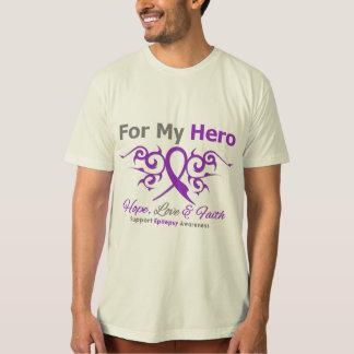 Epilepsy Tribal Ribbon Hero Tees