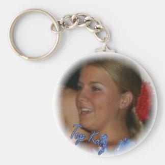 Erin Basic Round Button Key Ring
