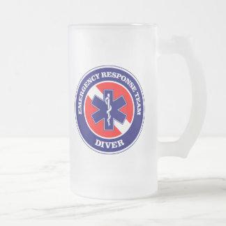 ERT Diver Frosted Glass Mug