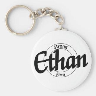 Ethan Basic Round Button Key Ring