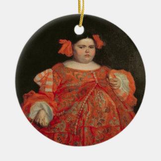 Eugenia Martinez Vallejo, called La Monstrua (oil Round Ceramic Decoration