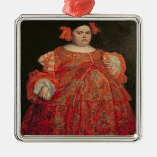 Eugenia Martinez Vallejo, called La Monstrua (oil Silver-Colored Square Decoration