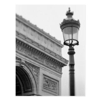 Europe, France, Paris. Arc de Triomphe and Postcard