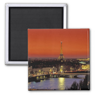 Europe, France, Paris. Sunset view of Eiffel Square Magnet