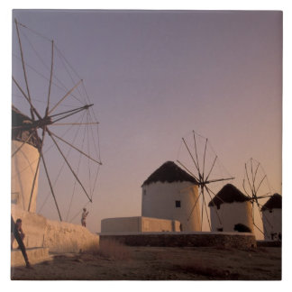 Europe, Greece, Cyclades Islands, Mykonos, Large Square Tile