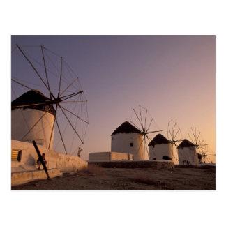 Europe, Greece, Cyclades Islands, Mykonos, Postcard