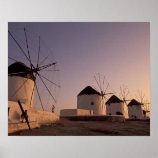 Europe, Greece, Cyclades Islands, Mykonos, Poster