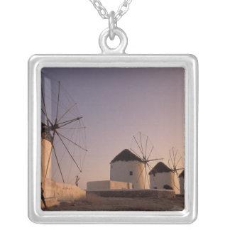 Europe, Greece, Cyclades Islands, Mykonos, Square Pendant Necklace